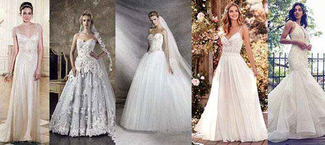 Wedding Dresses to Match Your Theme!